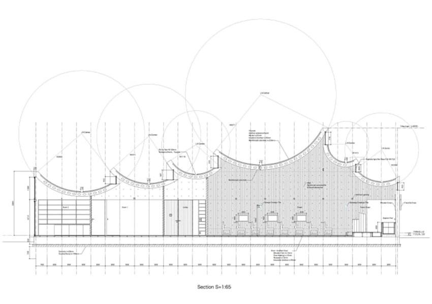Section of the Shonan Christ Church / Takeshi Hosaka Architects