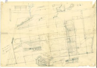 Maravillas Gymnasium Drawing lejandro de la Sota