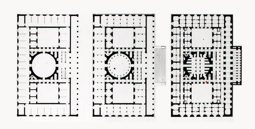 Floor Plans of the Altes Museum / Karl Friedrich Schinkel