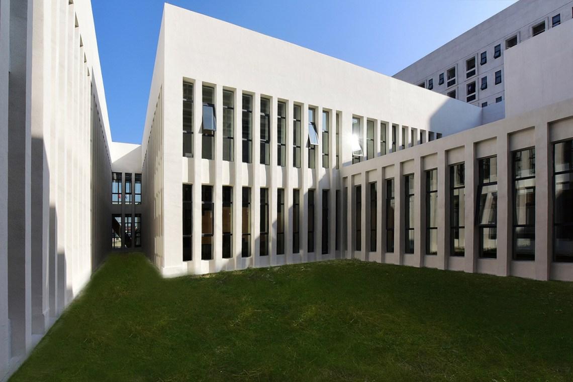 Courtyard and Window rhythm of the Dushan School Complex by West-line studio