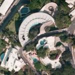 Aerial view of the Arango Mar Brisas House by John Lautner