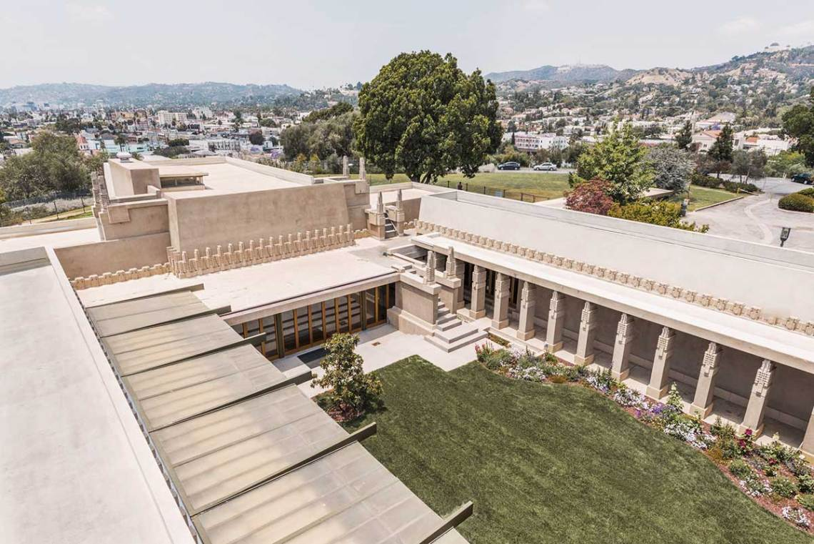 Frank Lloyd Wright Hollyhock House Aerial