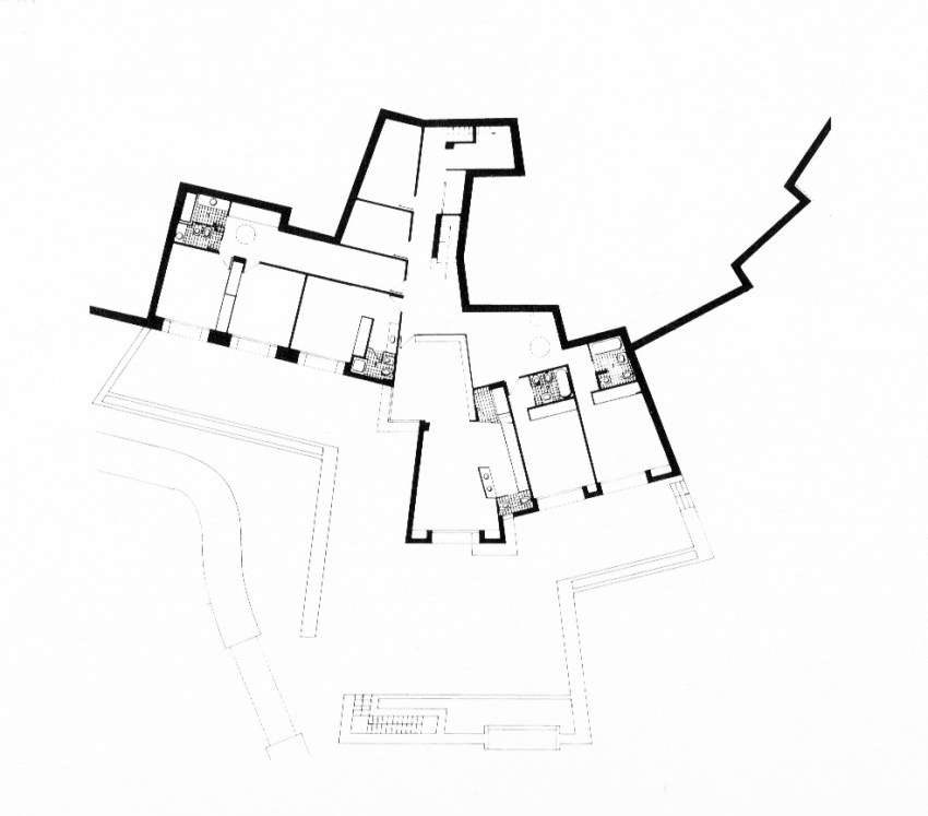 Ground Floor Plan of Raventos House by Antonio Bonet Castellana