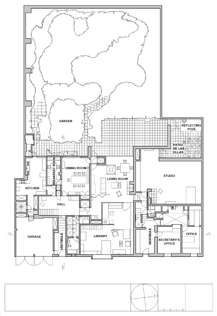 Floor Plan of Luis Barragan House and Studio / Luis Barragan