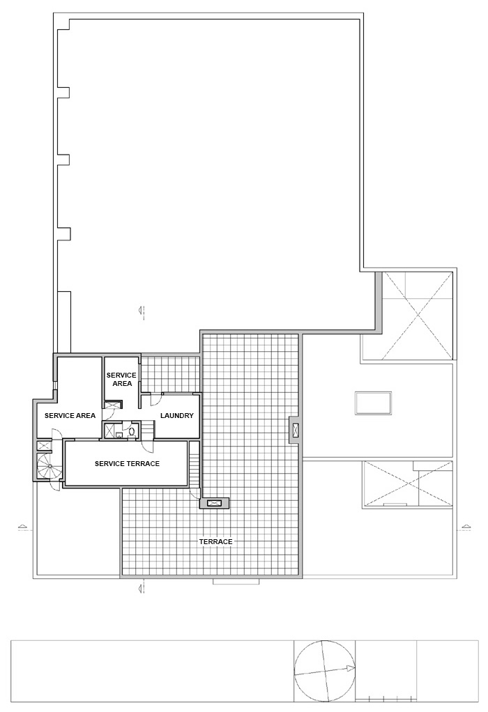 Floor Plan Luis Barragan House and Studio