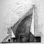 San Giovanni Battista Church sketch by Mario Botta