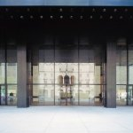 Entrance of the Seagram Building in New york by Mies Van Der Rohe