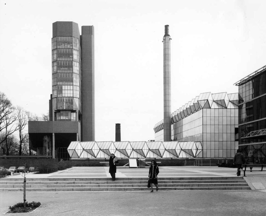 Historic Photograph of the engineering Building in Leicester by James Stirling & James Gowan