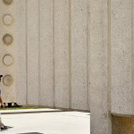 Entrance of the John Fitzgerald Kennedy Memorial Plaza by Philip Johnson
