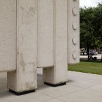 Columns of the John Fitzgerald Kennedy Memorial Plaza by Philip Johnson