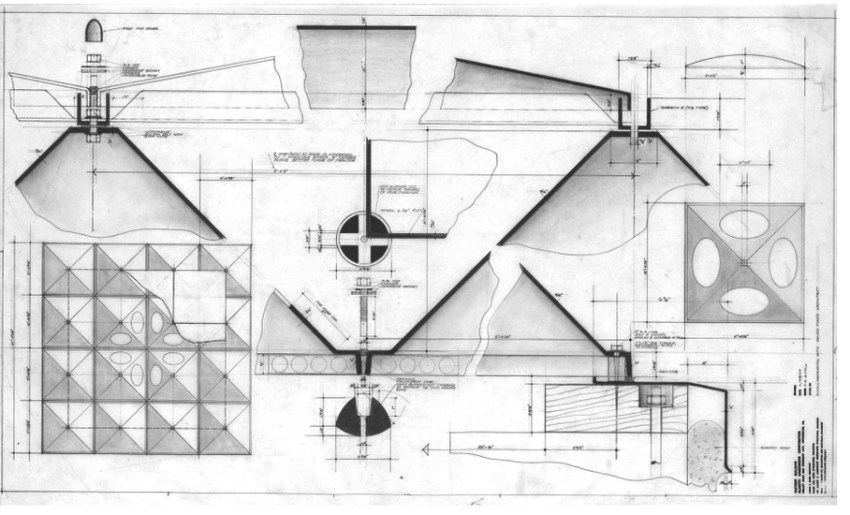Renzo Piano drawings for the Olivetti Underwood Factory in Pennsylvania / Louis Kahn