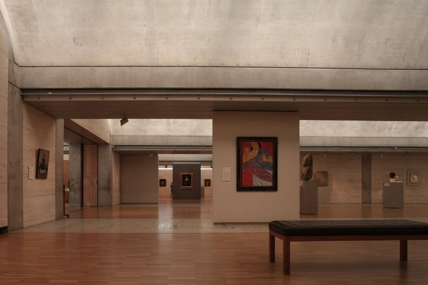 Interior of the museum by Louis Kahn
