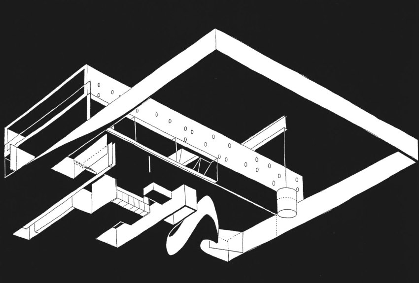Axonometric View of the House in Bordeaux