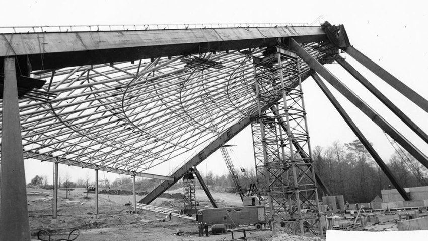 Construction of the Blossom Music Center in Cuyahoga Valley / Peter van Dijk