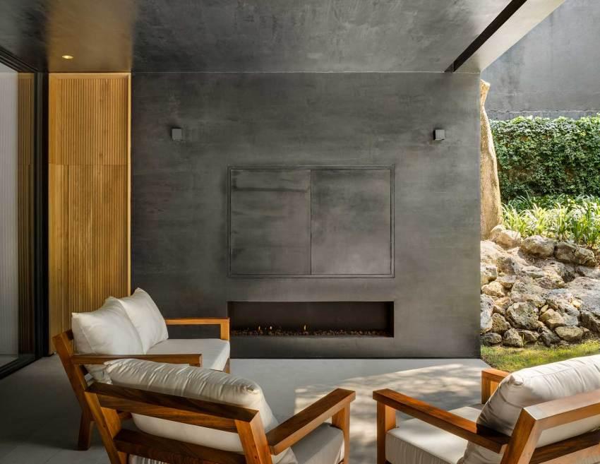 Living room Lluvia House in Mexico / PPAA Pérez Palacios Arquitectos Asociados
