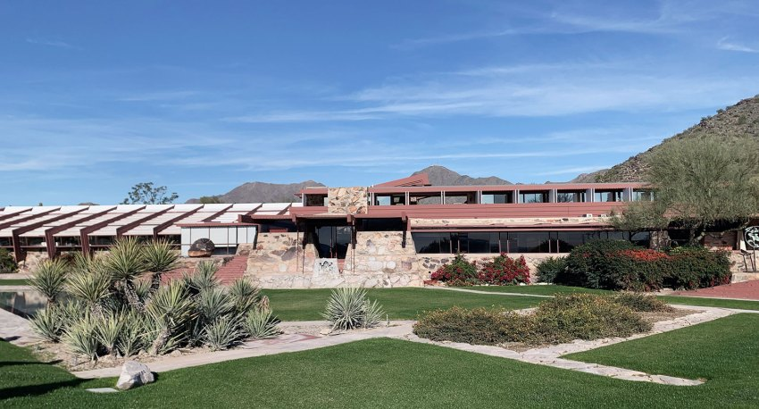 Front Facade Taliesin West by Frank Lloyd Wright