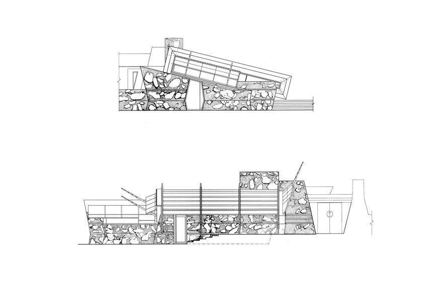 Elevation of Taliesin West in Arizona / Frank Lloyd Wright
