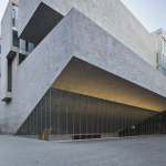 Facade exterior of the Universita Luigi Bocconi / Grafton Architects