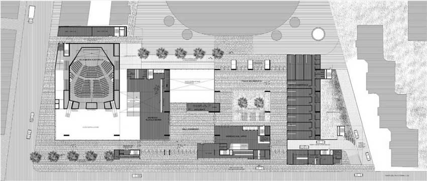 Floor Plan of the Universita Luigi Bocconi / Grafton Architects