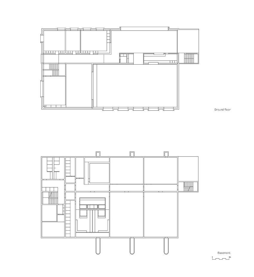 Floor plans - Community building 'La Tuffière' in Corpataux-Magnedens / 2b architectes