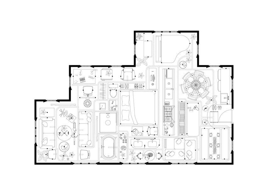 Floor Plan - HOUSE XYZ / Kwong Von Glinow Design Office