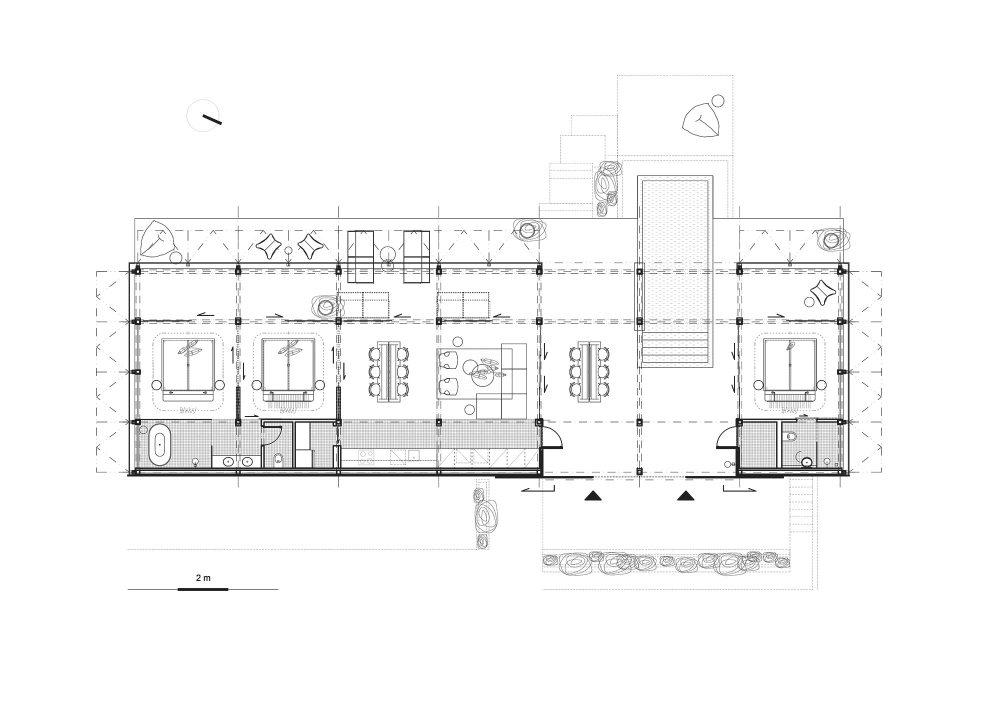 Floor Plan Atelier Villa / Formafatal