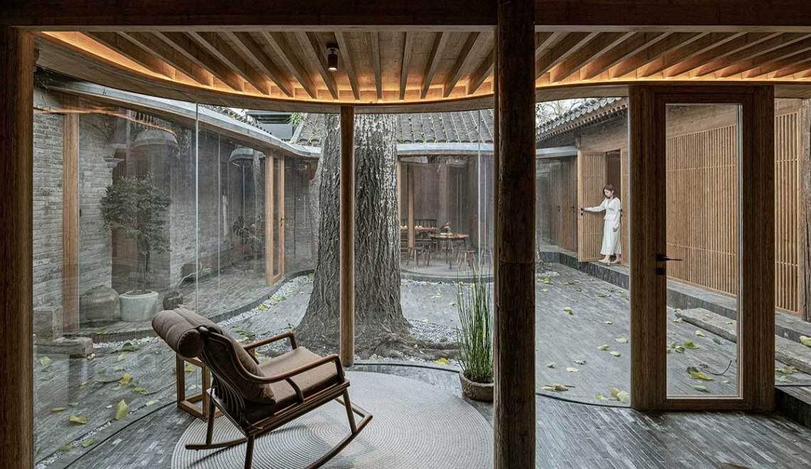 Back courtyard study - Qishe Courtyard in Beijing / ARCHSTUDIO