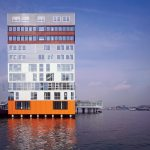 Fron View from river - Silodam Housing Block in Amsterdam / MVRDV
