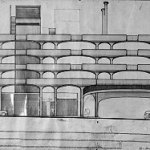 Elevation - Temple Street Parking Garage / Paul Rudolph