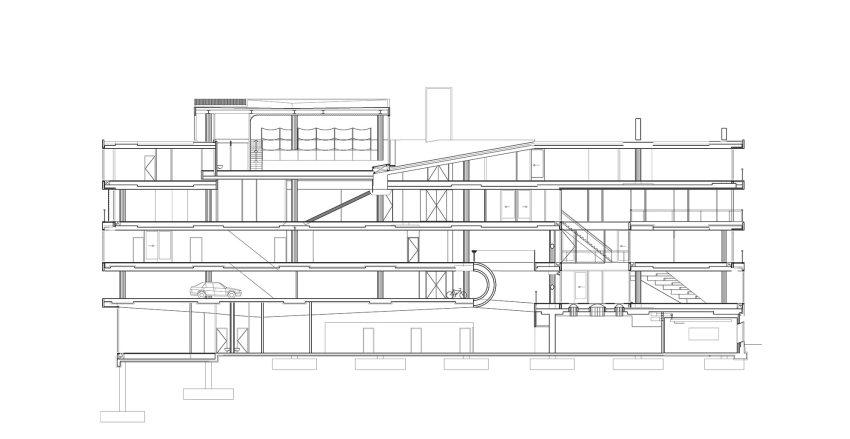 Section- Villa VPRO Headquarters / MVRDV