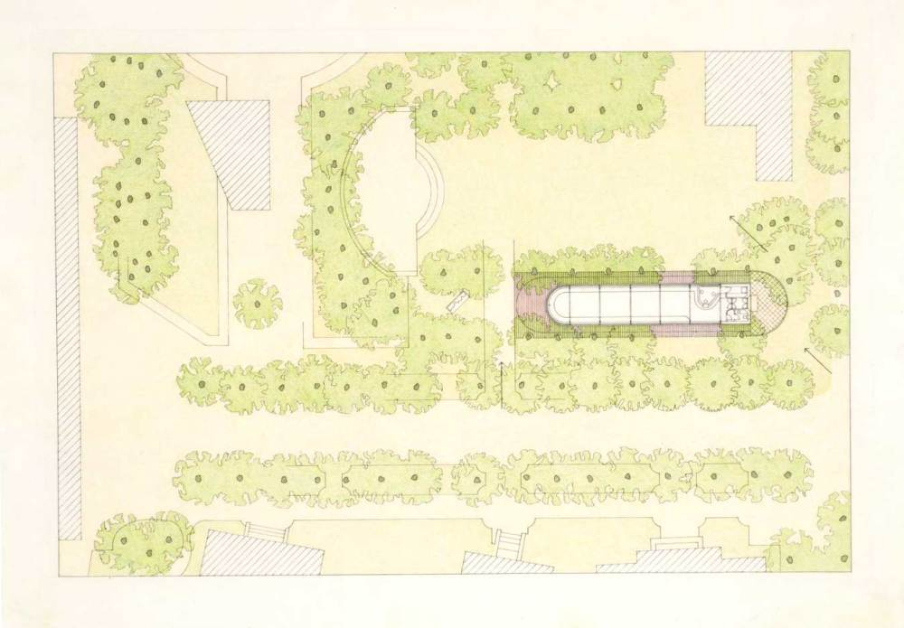 Drawing - Bookshop Pavilion in Venice, / James Stirling, Michael Wilford, and Associates