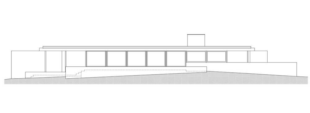 Section Plan - Utzon's House in Hellebæk / Jørn Utzon