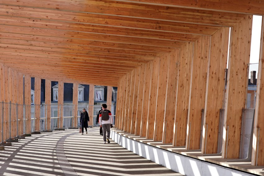 Rhythm of the structure - Footbridge at Angers Saint-Laud TGV Train Station / Dietmar Feichtinger Architectes (DFA)