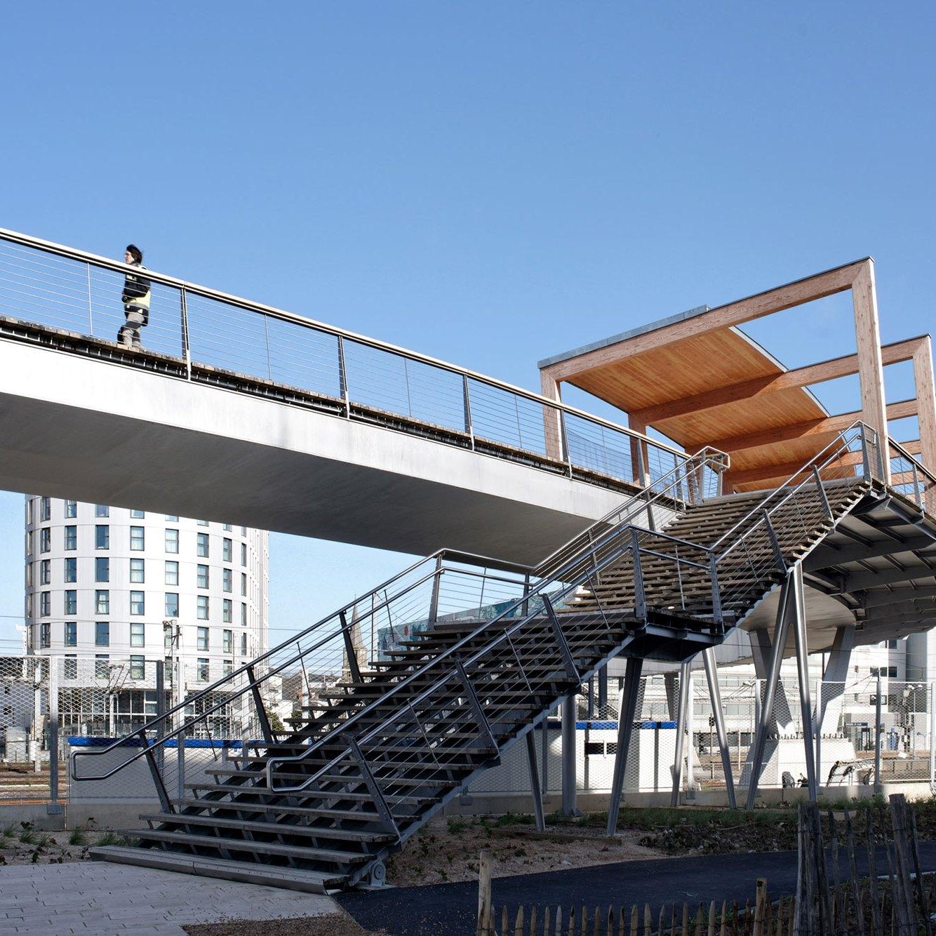Stairs to the bridge