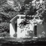 Travertine House Exterior by Gordon Bunshaft