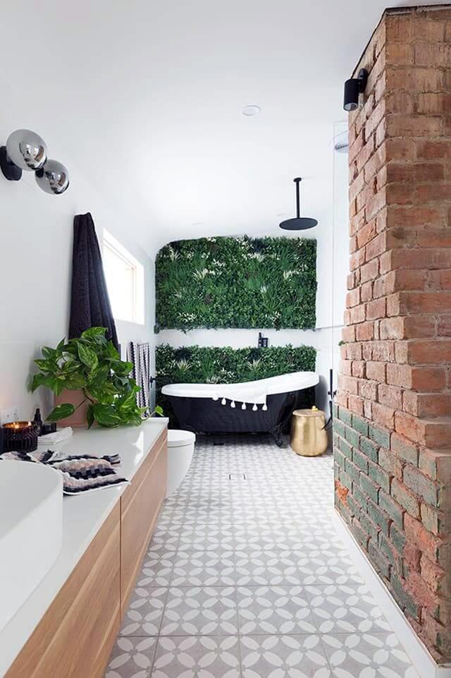Artificial Plants in bathroom