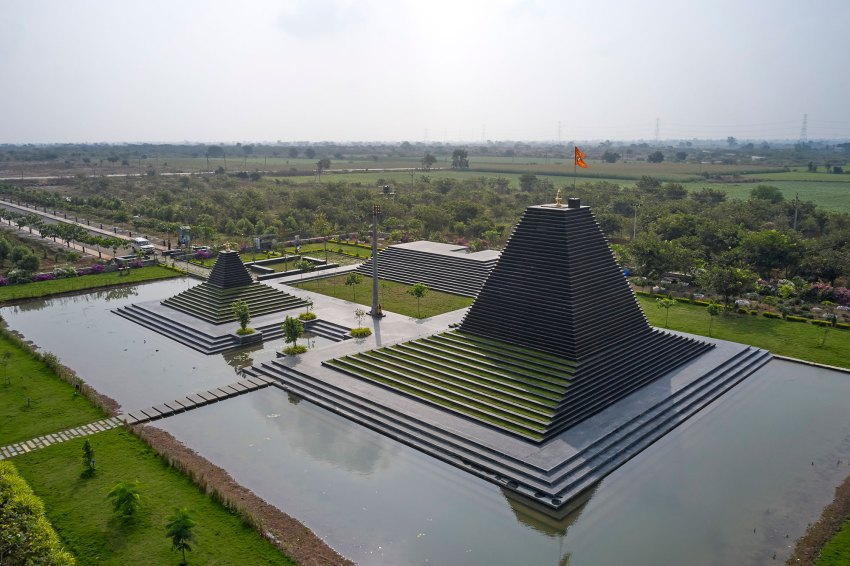 Aerial View of the stepped temple