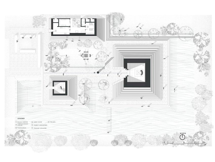 Floor Plan of Temple