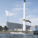 Water sports in front of CopenHill Waste-to-Energy Plant & Sport Facility / BIG