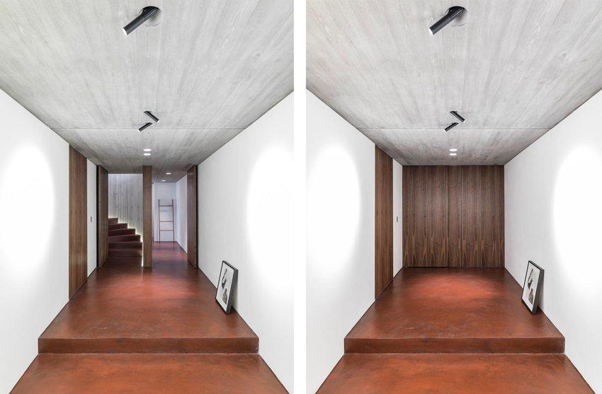 Wood Modern Pivot door   Via FritsJurgens