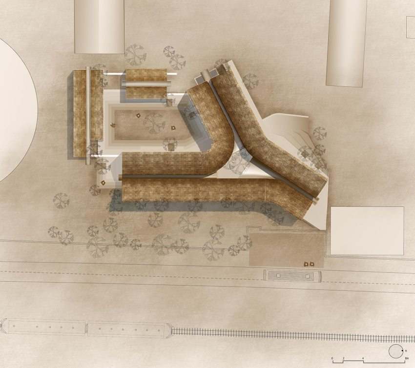 Jetavan Center Site Plan | © Sameep Padora and Associates