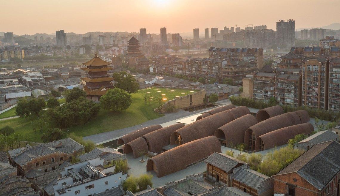 Aerial View - Jingdezhen Imperial Kiln Museum / Studio Zhu-Pei-aerial