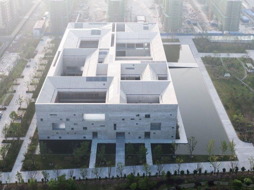 Aerial View - Shou County Culture & Art Center / Studio Zhu-Pei