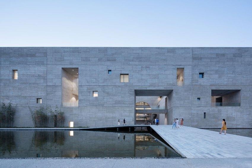 Facade - Shou County Culture & Art Center / Studio Zhu-Pei