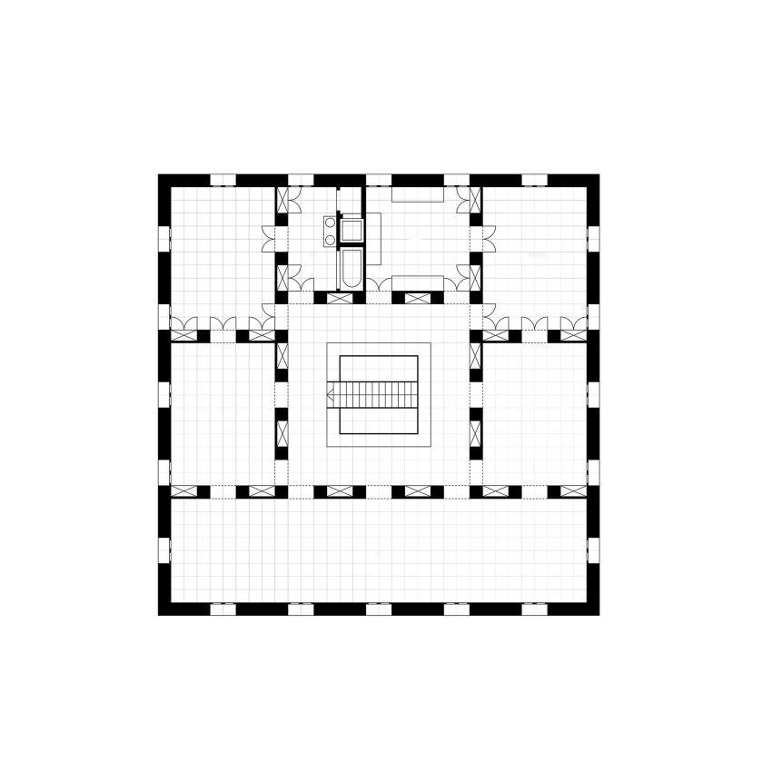 Floor Plans - Ungers House II: Villa Glashütte / Oswald Mathias Ungers