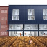 Buidling Facade and Working Gardens by Dividual Architects