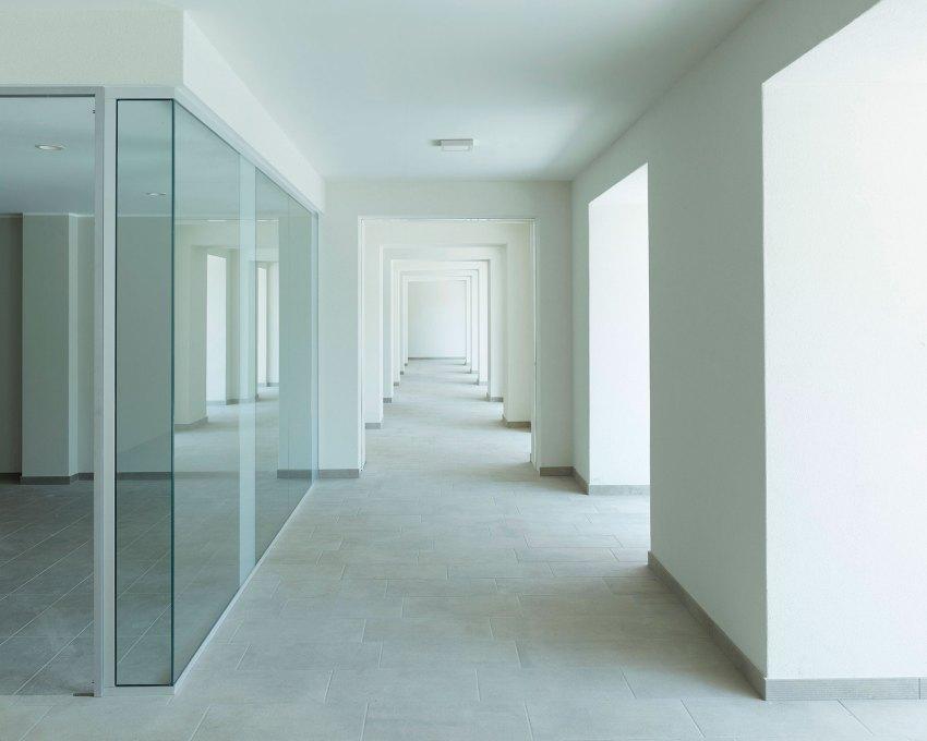 Interiors white and glass - Casa Tersicore / Degli Esposti Architetti