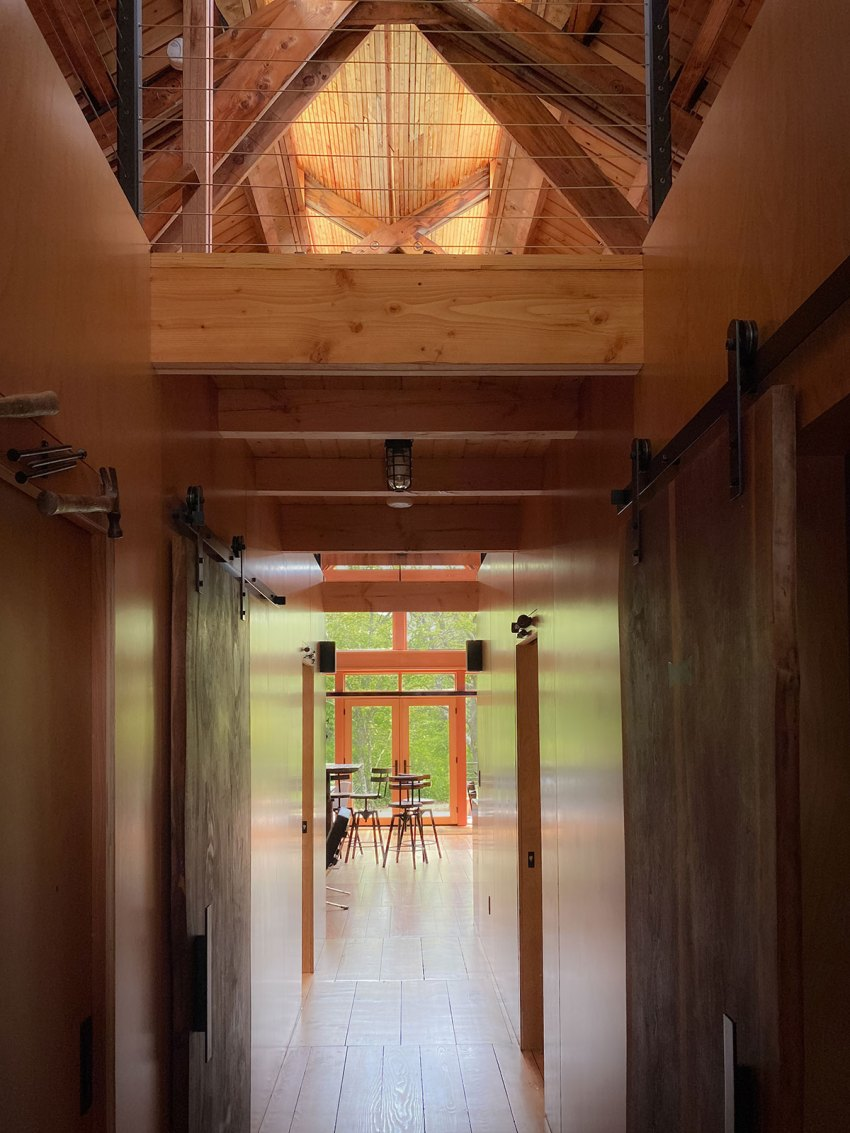 Corridor of a Wooden House