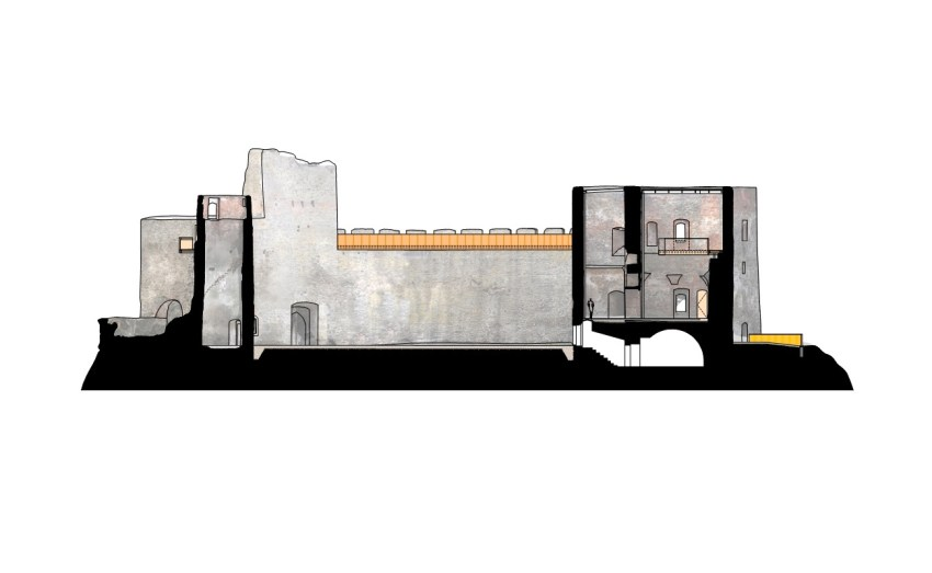 Section - Helfštýn Castle Palace Reconstruction / Atelier-r