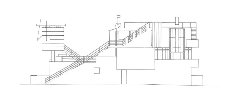 Elevation - Norton House in Venice Beach / Frank Gehry